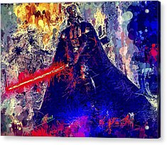 Acrylic Print featuring the mixed media Darth Vader by Al Matra