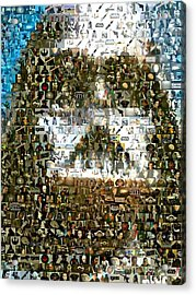 Darth Vader Mosaic Acrylic Print by Paul Van Scott