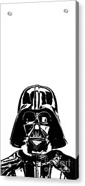 Darth Vader Painting Acrylic Print by Edward Fielding