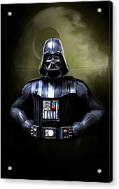 Darth Vader Star Wars  Acrylic Print by Michael Greenaway