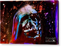 Darth Vader's Melted Helmet Acrylic Print by Justin Moore