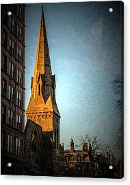 Dartmouth Street In Boston Acrylic Print