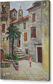 Dasha In The Old Town Acrylic Print