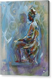 Acrylic Print featuring the painting Dashiki by Gertrude Palmer