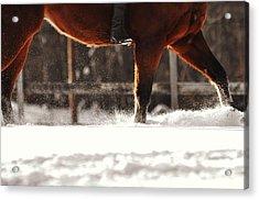 Dashing Through The Snow Acrylic Print by JAMART Photography
