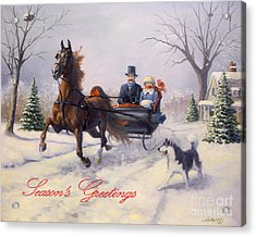 Dashing Through The Snow Acrylic Print by Jeanne Newton Schoborg