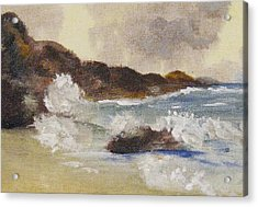 Acrylic Print featuring the painting Dashing Waves by Trilby Cole
