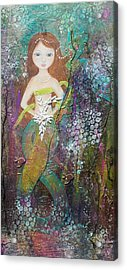 Acrylic Print featuring the mixed media Daughter Of The Sea by Virginia Coyle