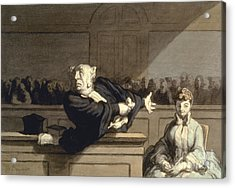 Daumier: Advocate, 1860 Acrylic Print by Granger