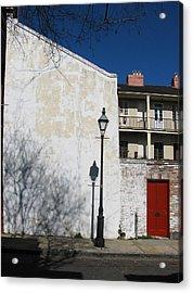 Dauphine Red Door Acrylic Print by Tom Hefko