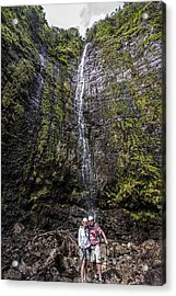 Dave And Elaine At Waimoku Falls Acrylic Print