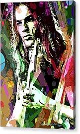 Dave Gilmour Dark Side Acrylic Print