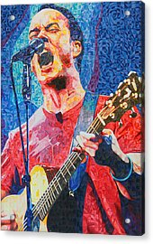 Dave Matthews Squared Acrylic Print by Joshua Morton