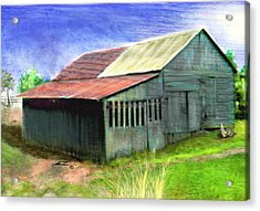 Dave's Barn Acrylic Print