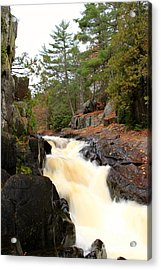Dave's Falls #7277 Acrylic Print by Mark J Seefeldt
