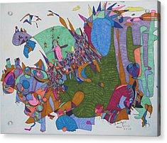 Dave's Mind Acrylic Print by James SheppardIII