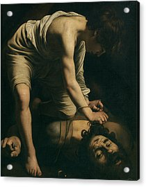 David And Goliath Acrylic Print by Caravaggio