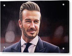 David Beckham Oil Painting Acrylic Print