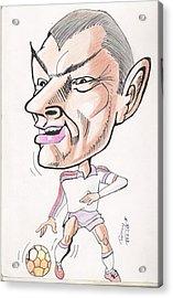 David Beckham Acrylic Print by Tanmay Singh