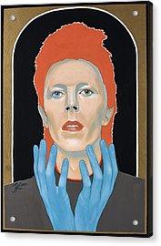 David Bowie 3 Acrylic Print by Jovana Kolic