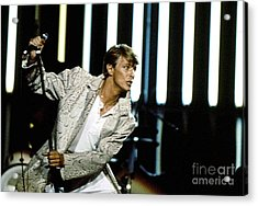 Acrylic Print featuring the photograph David Bowie Action Man by Sue Halstenberg