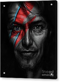 David Bowie Acrylic Print by Andre Koekemoer