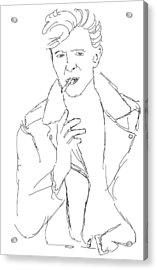 David Bowie Acrylic Print by Angela Murray