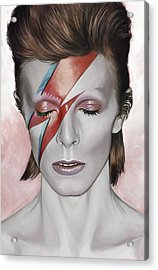 David Bowie Artwork 1 Acrylic Print by Sheraz A