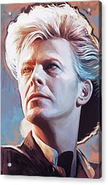 Acrylic Print featuring the painting David Bowie Artwork 2 by Sheraz A