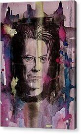 Acrylic Print featuring the painting David Bowie by Geni Gorani
