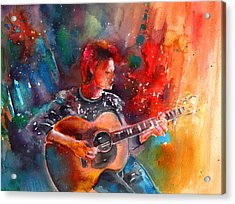 David Bowie In Space Oddity Acrylic Print