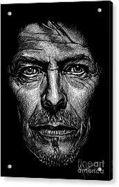 David Bowie Acrylic Print by Maria Arango