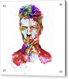 David Bowie  Acrylic Print by Marian Voicu
