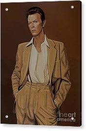 David Bowie Four Ever Acrylic Print by Paul Meijering