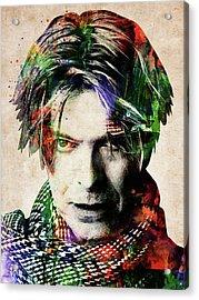 David Bowie Portrait Acrylic Print