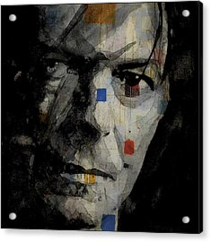 David Bowie Retro  Acrylic Print by Paul Lovering