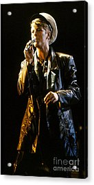 Acrylic Print featuring the photograph David Bowie Sailor by Sue Halstenberg