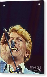 David Bowie Smiling Eye Acrylic Print by Philippe Taka
