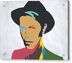 David Bowie Acrylic Print by Stormm Bradshaw