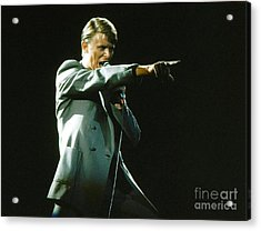 Acrylic Print featuring the photograph David Bowie The Point by Sue Halstenberg