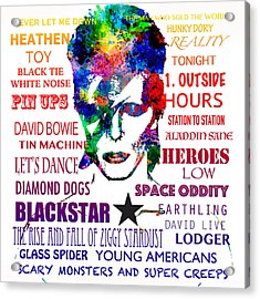 David Bowie Tribute Acrylic Print