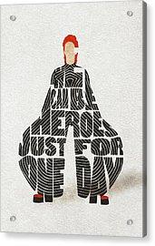 David Bowie Typography Art Acrylic Print