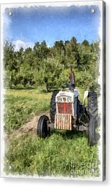 David Brown Case Vintage Tractor Acrylic Print by Edward Fielding