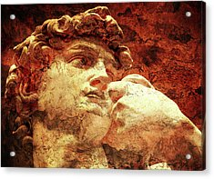 David By Michelangelo Acrylic Print by J- J- Espinoza