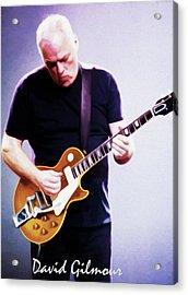David Gilmour By Nixo Acrylic Print