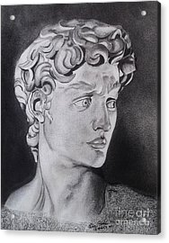 David In Pencil Acrylic Print by Lise PICHE