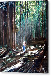 David In The Forest Acrylic Print