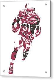 David Johnson Arizona Cardinals Pixel Art 2 Acrylic Print