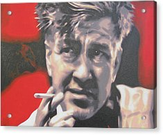 David Lynch Acrylic Print by Luis Ludzska