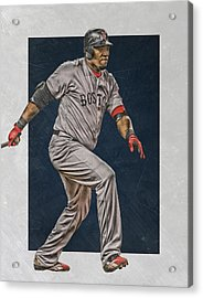 David Ortiz Boston Red Sox Art 2 Acrylic Print by Joe Hamilton